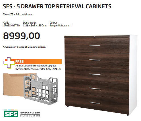 SFS-5-drawer-top-retrieval-cabinet